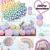 JWTOYZ Luftballons Pastell, 100pcs Luftballons Bunt, Ballons Pastell Macaron, Luftballons Pastellfarben Mixfür HochzeitGeburtstagsparty Babyparty Valentinstag Dekoration