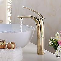 XXTT-Miscelatore lavabo Ottone cromato sollevate rubinetto di lavabo Rubinetto del bagno