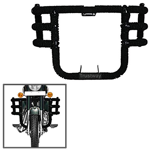 Dhe Best LG-51 Bike Front Leg Guard Airfly Leg Crash Guard 3 Bend Bar - Rod Tied With Black Rope for Royal Enfield Thunderbird 350 Model 2