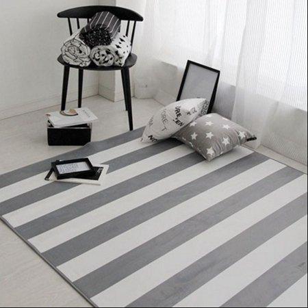 GRENSS Moderne Geometrische gestreiften Teppich Teppiche koreanischen Stil Wohnzimmer Tisch Kinder Teppich rutschfeste Home Decor Rechteck Schlafzimmer Matten, Geometrische gestreift, 500 x 1200 mm