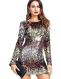4af8a5f9374e0 DIDK Vestidos de Fiesta para Mujer Vestidos con Lentejuelas de Moda para  Mujer Faldas Atractivas de