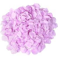 S/o 500Pack Rose hojas pétalos Lila rosas hojas flores de flores seda Flores