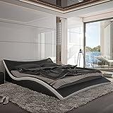Innocent Polsterbett aus Kunstleder Nurai schwarz/weiß, 180 x 200 cm