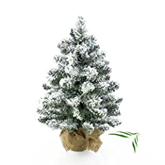 Idea Regalo - Piccolo albero di Natale artificiale Reykjavik nel suo sacchetto marrone, innevato, 65rami, 45cm, ø 20cm–Albero di Natale artificiale/Albero di Natale Plastica–artplants