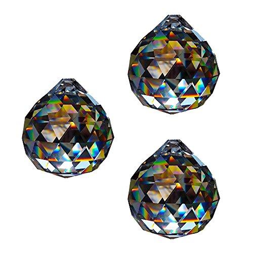Sfera di cristallo D.30mm-esoterico-Arcobaleno Cristallo Feng Shui-Decorazione per finestra, confezione