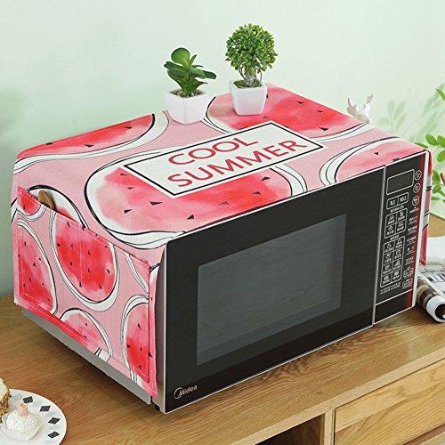 Four micro-ondes réfrigérateur chiffons Serviette de couverture de dôme de poussière Nappe meuble tv-E 35x90cm(14x35inch)