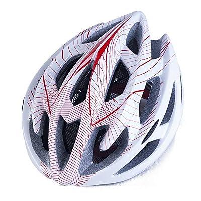 FEZBD Helmet Men/Women Cycle Helmet, Mountain Bicycle Helmet 22Vents Adjustable Comfortable Safety Helmet for Outdoor Sport Riding Bike,White from FEZBD