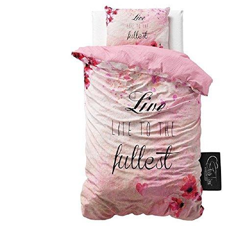 SleepTime Bettbezug Baumwolle Fullest, 140x 220, mit 1Kissenbezug 60cm x 70cm, rosa