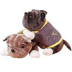 108 BestBuy Lovely Super Cute Stuffed BullDog Gift Present Doll Toy (BullDog Golden)
