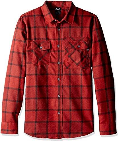 camicia-a-maniche-lunghe-oakley-adobe-fired-brick-l-rosso