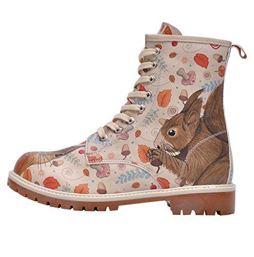 Dogo Squirrel, Damen Stiefel & Stiefeletten , beige - beige - Größe: EU 38 - 4