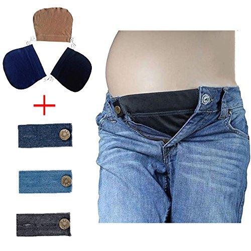 Schwangerschaft Hosenerweiterung Taillenstreckband für Schwanger   Passen Sie Ihre Normale Kleidung Wie Jeans, Hosen, Röcke in Umstandsmode