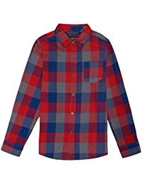 French Toast Boys' Long Sleeve Flannel Shirt