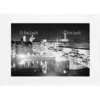 Archivio Foto Locchi Firenze – Stampa Fine Art su passepartout 70x50cm. – Immagine del panorama notturno di Firenze negli anni '50