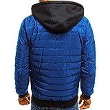OHQ_Herren Daunenjacken Winterjacke Hooded Puffer Jacket, Steppjacke Warm Atmungsaktiv Bequem Top Outwear Gefüttert mit Kapuze