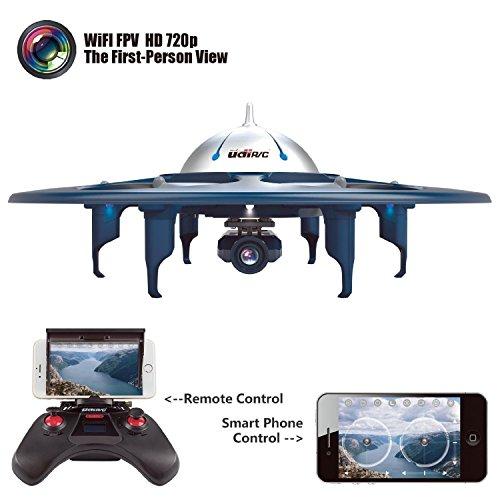 Dazhong UDI U845 WiFi FPV UFO HexaCopter RC drone avec la photographie aérienne en temps réel 720p HD Camera App contrôlable par des appareils intelligents