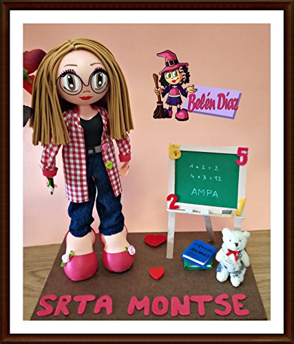 Muñeca artesanal Fofucha Profesora