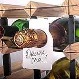CKB Ltd® Pack de 48 Large Wine Bottle Neck Tags Blank Champagne Grand Etiquettes pour Goulot de bouteille de vin & Étiquettes de bouteille de vin pour étiqueter une bouteille tout stockée dans une collection de cave Rack de rangement - une plus grande taille comprend un stylo à essuyage à sec