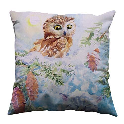 Dtuta Zierkissen & -hüllen, Schöner Digitaldruck einfacher Kissenbezug Baumwolle weiches Sofa Wurfkissen Set Dekoration