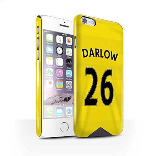 Offiziell Newcastle United FC Hülle / Glanz Snap-On Case für Apple iPhone 6S / Pack 29pcs Muster / NUFC Trikot Home 15/16 Kollektion Darlow