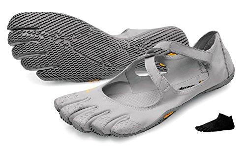 Vibram FiveFingers V-Soul + Zehensocke 11005, Size:40;Color:Silver/Lightgrey