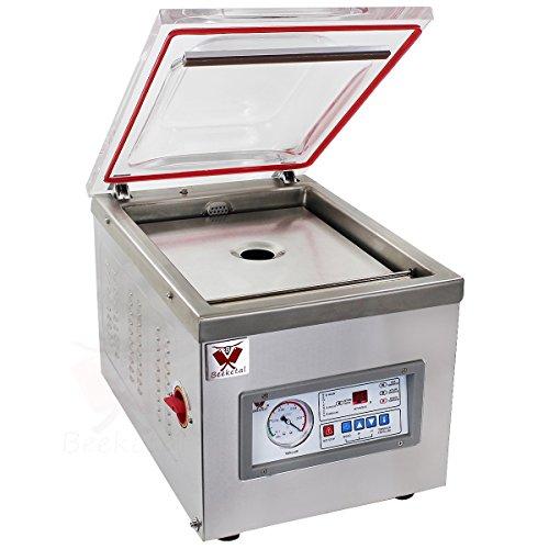 """Beeketal """"D260Z"""" Profi Kammer Vakuumierer mit Impuls Schweißleiste, elektronisch gesteuertes Vakuumiergerät mit 15m³/h Absaugvolumen und integriertem Impuls Folienschweißgerät, Tischgerät"""
