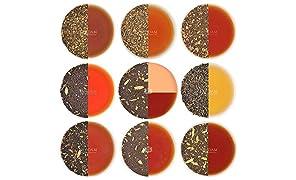 chai Tea sampler, 10, tè originale dell' India Masala chai miscele (50tazze), 100% ingredienti naturali–Grown, Blended & spediti direttamente dalla fonte in India, Authentic chai tè sfuso foglia