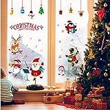 Jkxiansheng Joyeux Noël Stickers Muraux Fenêtre Décor Ménage Chambre Sticker Mural Amovible Sticker Mural