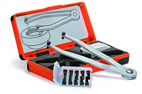 Stirnlochschlüssel-Satz, auswechselbarer Zapfen, verstellbar - Ø 1,5 - 2 -2,5 - 3 - 4 - 758S-50427