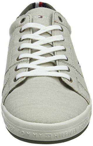 Tommy Hilfiger Essential Pique Denim Sneaker, Scarpe da Ginnastica Basse Uomo Beige (Cobblestone 068)