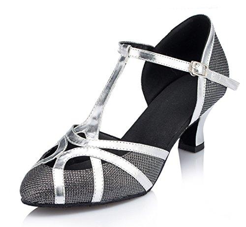 Minitoo , Damen Tanzschuhe Glitter-Black