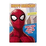 Hallmark Carte d'anniversaire Spider-Man pour enfants avec activité...