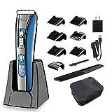 Hatteker Haarschneidemaschine schnurlose Haarschneidemaschine für Männer Bart Trimmer Haarschnitt Kit USB Wiederaufladbar Best Geschenk