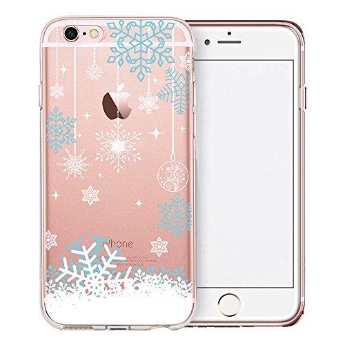 iPhone 7 Hülle, TrendyBox Weiche TPU Ränder mit hartem PC Rückdeckel Schutzhülle Hülle für iPhone 7 (Schneeflocken) Schneeflocken