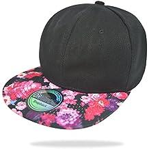 Glamexx24 Gorra de sombrilla de Mujer Unisex Basecap Gorra de béisbol NY Chicago Peace Gorra de