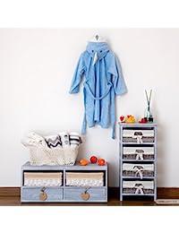 Albornoz infantil de toalla Animals con diseño de tiburón azul celeste ...