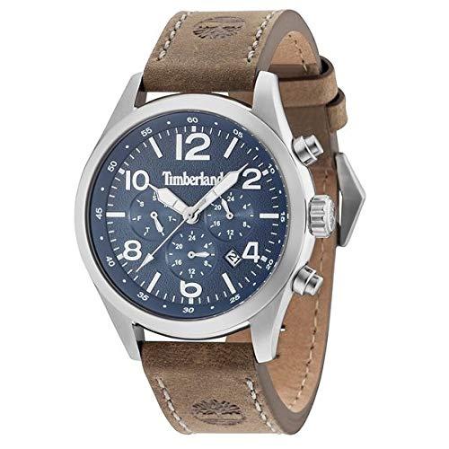 Timberland Herren Multi Zifferblatt Quarz Uhr mit Leder Armband 15249JS/03