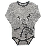 Small Rags, Jungen Langarm Baby Body, 100% Baumwolle, Grau/Creme, Gr. 86, Felix LS Body Urban Chic, 60569 04-13