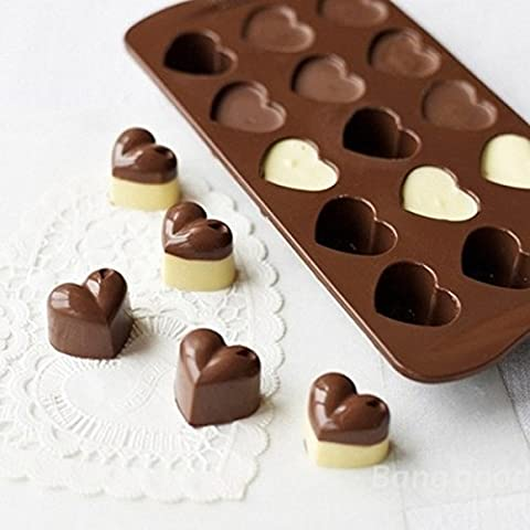 Mark8shop Heart Chocolate Cake Cookie Muffin Silicone Mould