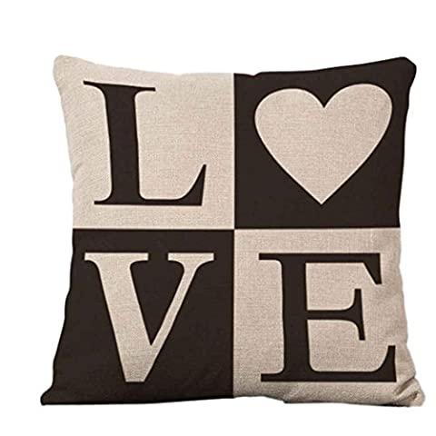 LHWY Square Pillow Cover Cushion Case Toss Pillowcase Hidden Zipper Closure (A)