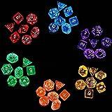 Goldge 42pc Polyedrische Würfel für Dungeons und Dragons ,Farbige 7 Würfelset Spielwürfel Rollenspiel