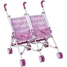 ColorBaby - Sillita de paseo gemelar con pliegue de paraguas, color rosa  (43101)