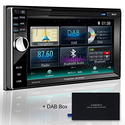 Tristan Auron BT2D7013A Autoradio GPS Navi + DAB Box, 6,5'' Touchscreen Bildschirm, WebLink, Bluetooth Freisprecheinrichtung, USB I SD, CD I DVD, DAB+ Lenkradsteuerung 2 DIN Auto Radio