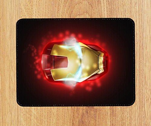 Marvel DC Iron Man inspiriert PU Faux Leder Mauspad, PC Maus Pad (Inspiriert Leder Faux)