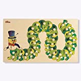 Dida - Puzzle Alphabet Chenille - Puzzle en bois Enfant - Jeu Educatif Alphabet avec 26 Lettres