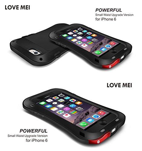 Love Mei Schutzhülle für iPhone 6Plus 14cm Wasserdicht Aluminium Metall Schutzhülle mit Gorilla Glas Display Schutz weiß