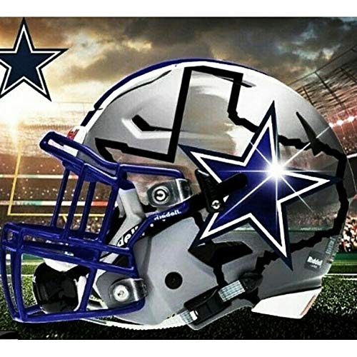 h) 5d DIY voller runder Diamant Zeichnung Dallas Cowboys Stickerei kreuzstich Diamant mosaik Party Dekoration ()