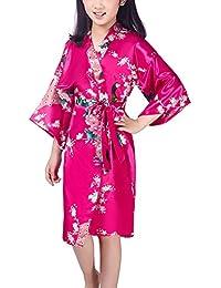 Dolamen Kid s Girl s Dressing Kimono Gown Kimono Robe 100c805f6