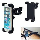 Tarkan Adjustable 360 degree Bike / Bicycle Handlebar Mount Universal Mobile Phone Holder [Black]