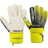 Reusch Jungen Prisma SG Finger Support Junior Torwarthandschuh, Safety Yellow/Black, 6.5